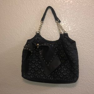 Cute black bag with gold embedded details